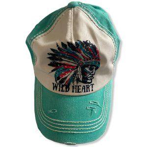 KBETHOS Distressed Wild Heart Vintage Baseball Cap